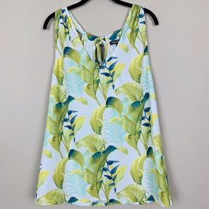 Tommy Bahama Tropical Leaf Print Tank Top L